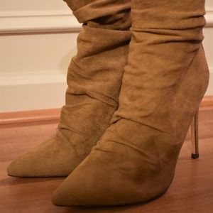 Fashion Nova Camel Ruched Ankle Booties 6